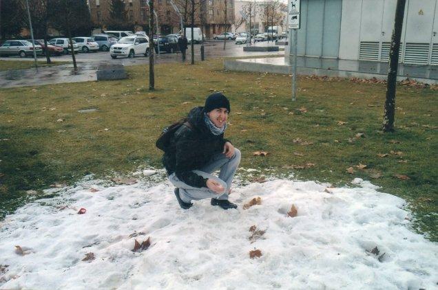 Primera vez que tocó la nieve